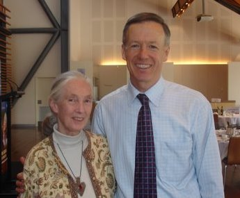 Andrew O'Keeffe and Dr Jane Goodall